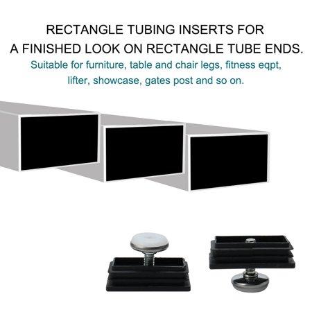 Leveling Feet 30 x 60mm Rectangle Tube Insert Adjustable Furniture Glide 4 Sets - image 6 de 7