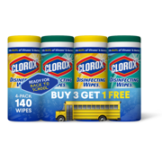Clorox Disinfecting Wipes (140 Ct Value Pack), Bleach Free Cleaning Wipes - 4 Pk - 35 Ct Each