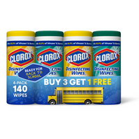 Deals on 140-Count Clorox Disinfecting Wipes Bleach Free Cleaning Wipes