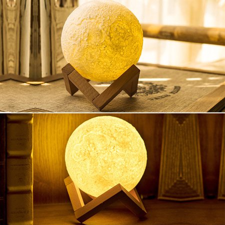 13CM bedroomlight 3D Moon Lamp USB LED Night Light Moonlight Remote & Switch Color Changing, Home Party Bedroom Decal, Gift