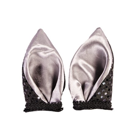 Bat Ears Womens Adult Black Halloween Costume Accessory Hairclips