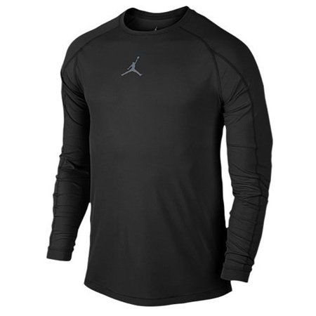 9e667f9e8d7d54 Nike - Nike Mens Jordan All Season Fitted Long Sleeve Training Shirt  Black Cool Grey 642406-010 Size 2X-Large - Walmart.com