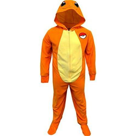 Pokemon Charmander One Piece Union Suit Pajama for Men, Orange, Size: 2X Plus](Pokemon Misty Underwear)
