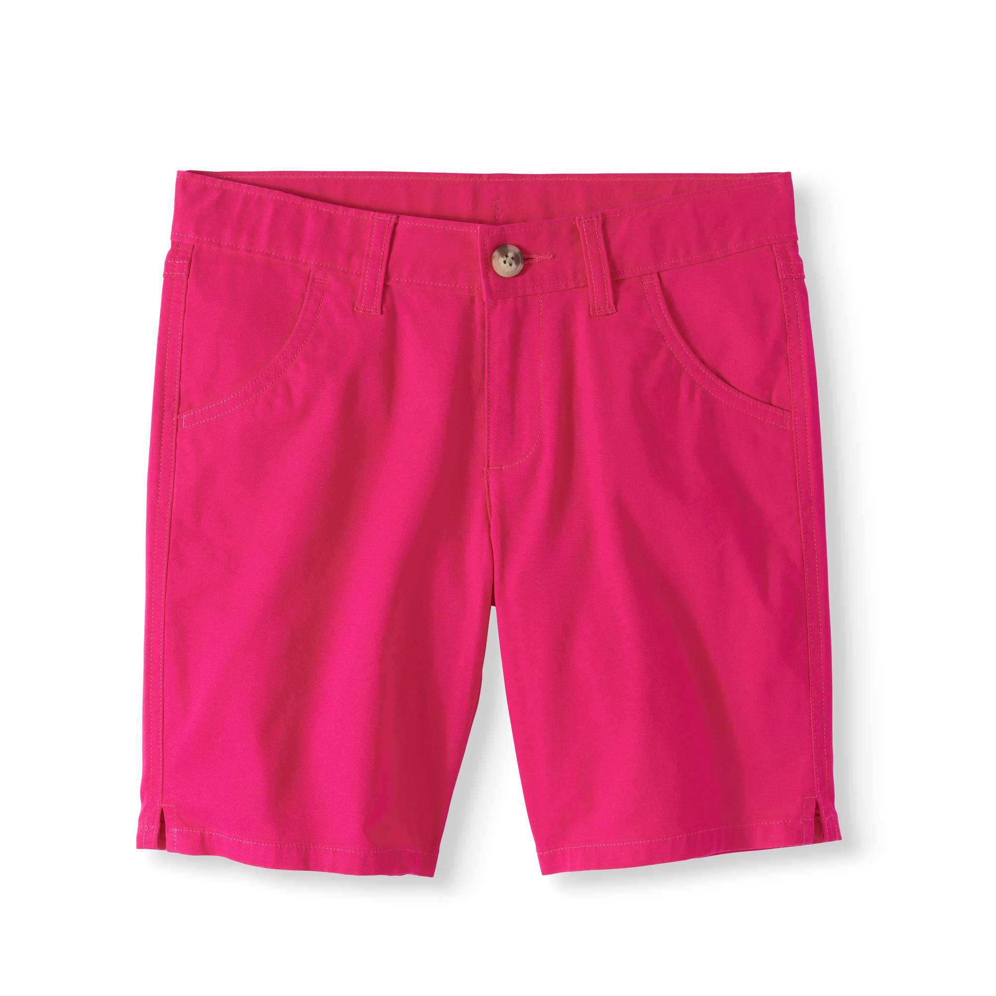 Wonder Nation Girls' Chino Bermuda Shorts