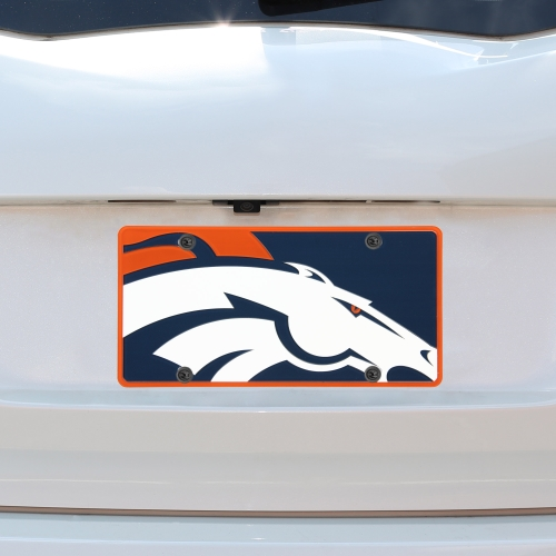 Denver Broncos Mega Acrylic License Plate - No Size