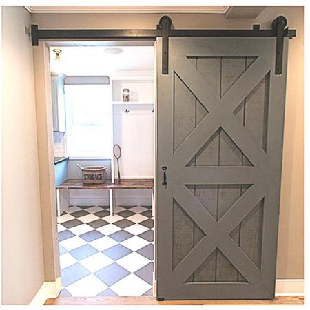 winsoon 5ft single door straight design sliding barn door