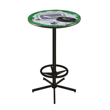 Vancouver Canucks 42 Inch High, 36 Inch Top Black L216 Pub Table
