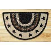 Earth Rugs 32-313BS Black Stars Printed Slice