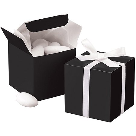 Wilton Square Favor Box, Black 100 ct. 1006-0638