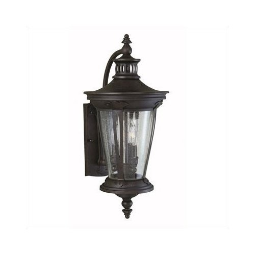 World Imports Old World Charm 3 Light Outdoor Wall Mount Lantern