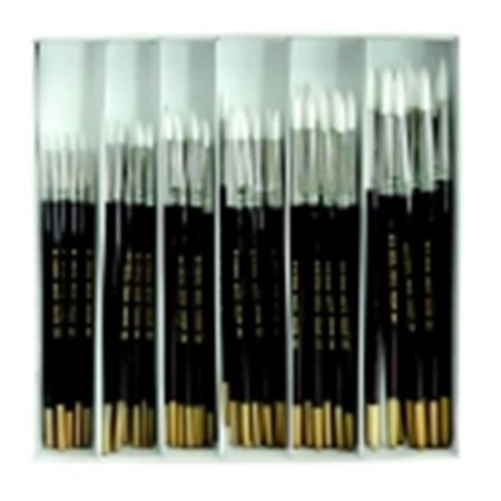 Royal Brush Economy Round Paint Brush Assortment - Assorted Flat Size, Brown, Pack 72 - Paint Brush Assortment