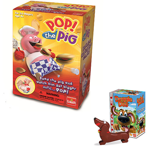 Goliath Games Pop the Pig & Doggie Doo Travel Game Bundle