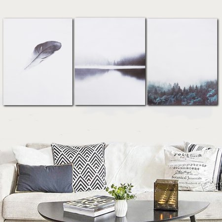 Unframed Modern Canvas Nordic Minimalist Forest Art Poster Print Picture Wall Art Hanging Home - Modern Minimalist Wall Mount