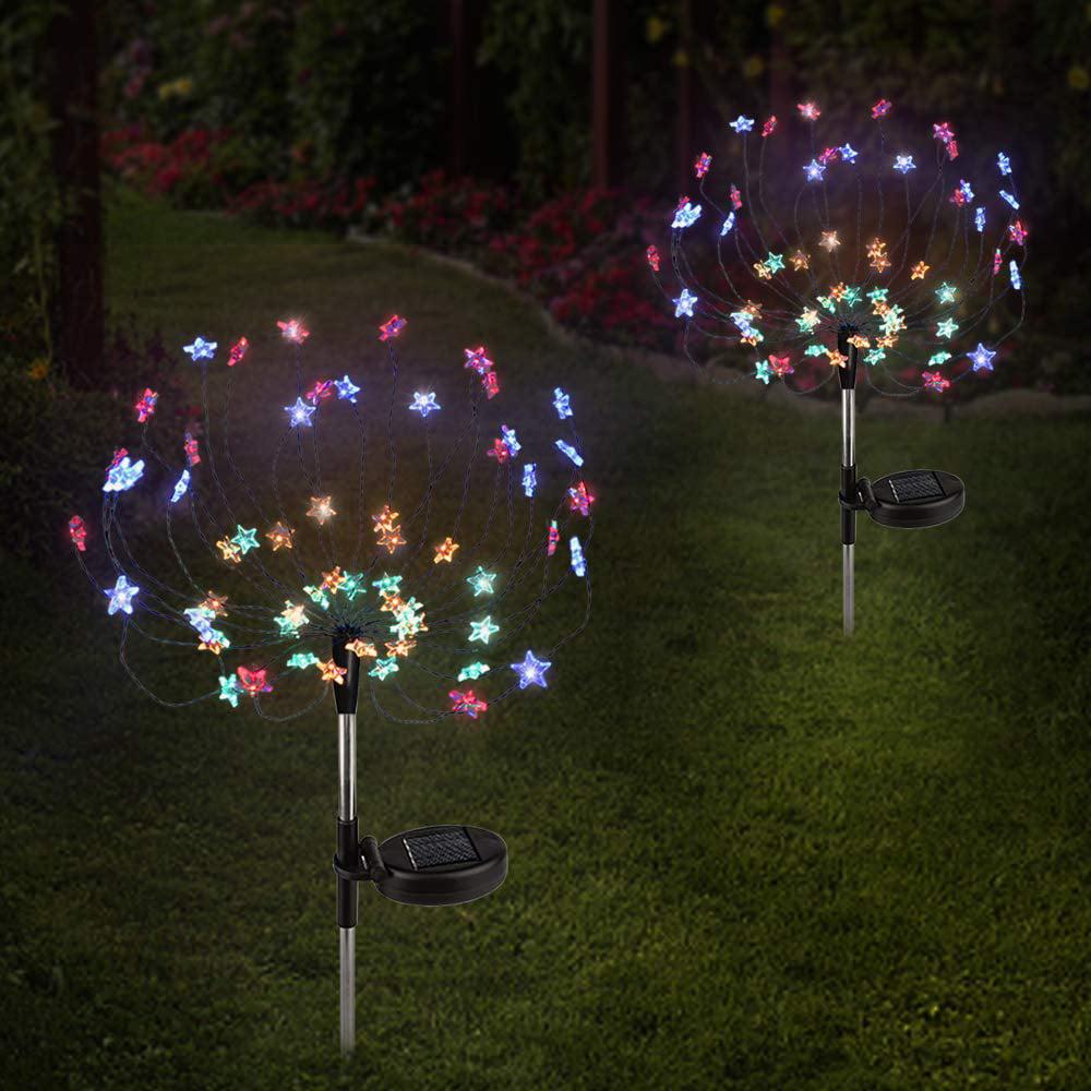 4pcs Firework Starburst LED Solar Fairy Light for Frontyard Patio Lawn Christmas