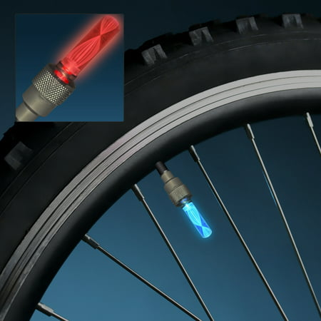 FlashingBlinkyLights Motion Activated Flashing Valve Color Changing LED Bicycle Lights for Tires in Pairs