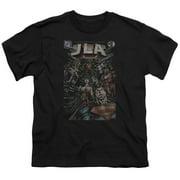 Jla - #1 Cover - Youth Short Sleeve Shirt - Large