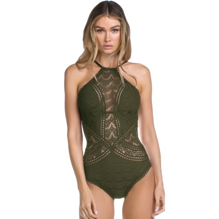 Becca Color Play High Neck One Piece 711187-BAY Green / X-Large (Becca Color)