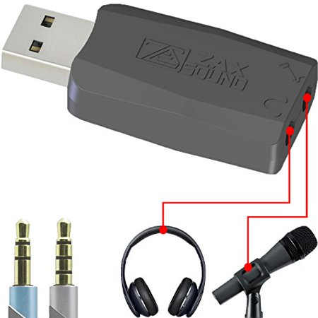 USB External Sound Card for Windows, Mac, Raspberry Pi and Linux, to be Used with Headphones and Microphones, Low White