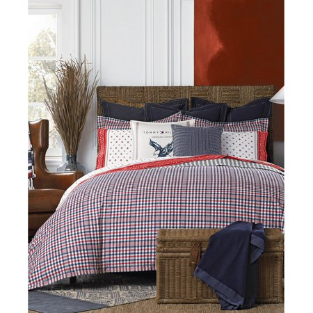 Tommy Hilfiger Timeless Plaid 2 Piece Twin/Twin XL Comforter Set Bedding, Keep Your Room's Look Classic and Clean, Red/blue - image 1 of 1
