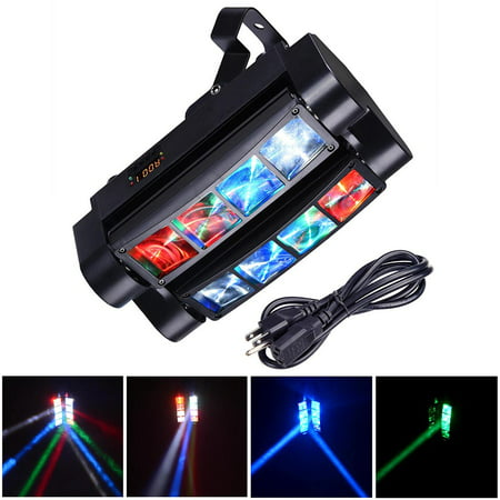 8x10W Spider Moving Head Stage Light RGBW DMX512 Bar Party Disco Outdoor  KTV Concert Light