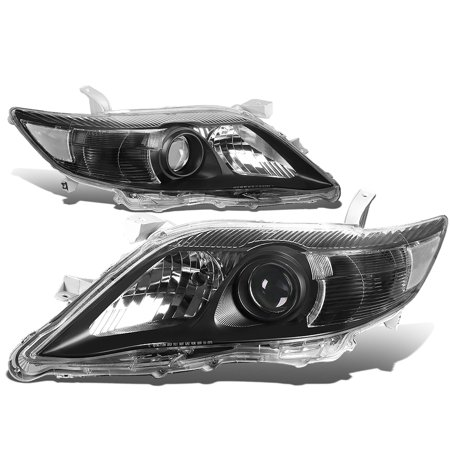 For 2010 to 2011 toyota Camry XV40 Projector Headlight Black Housing Clear Corner Headlamp