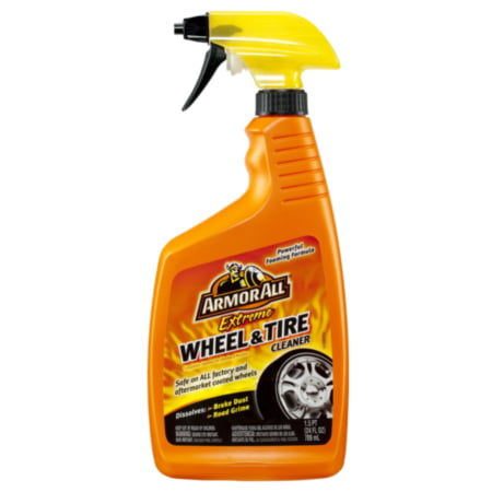 Armor All Extreme Wheel and Tire Cleaner - Dissolves grease, road grime & brake dust - Reveals brilliant shine, 24 ounce spray, sold by