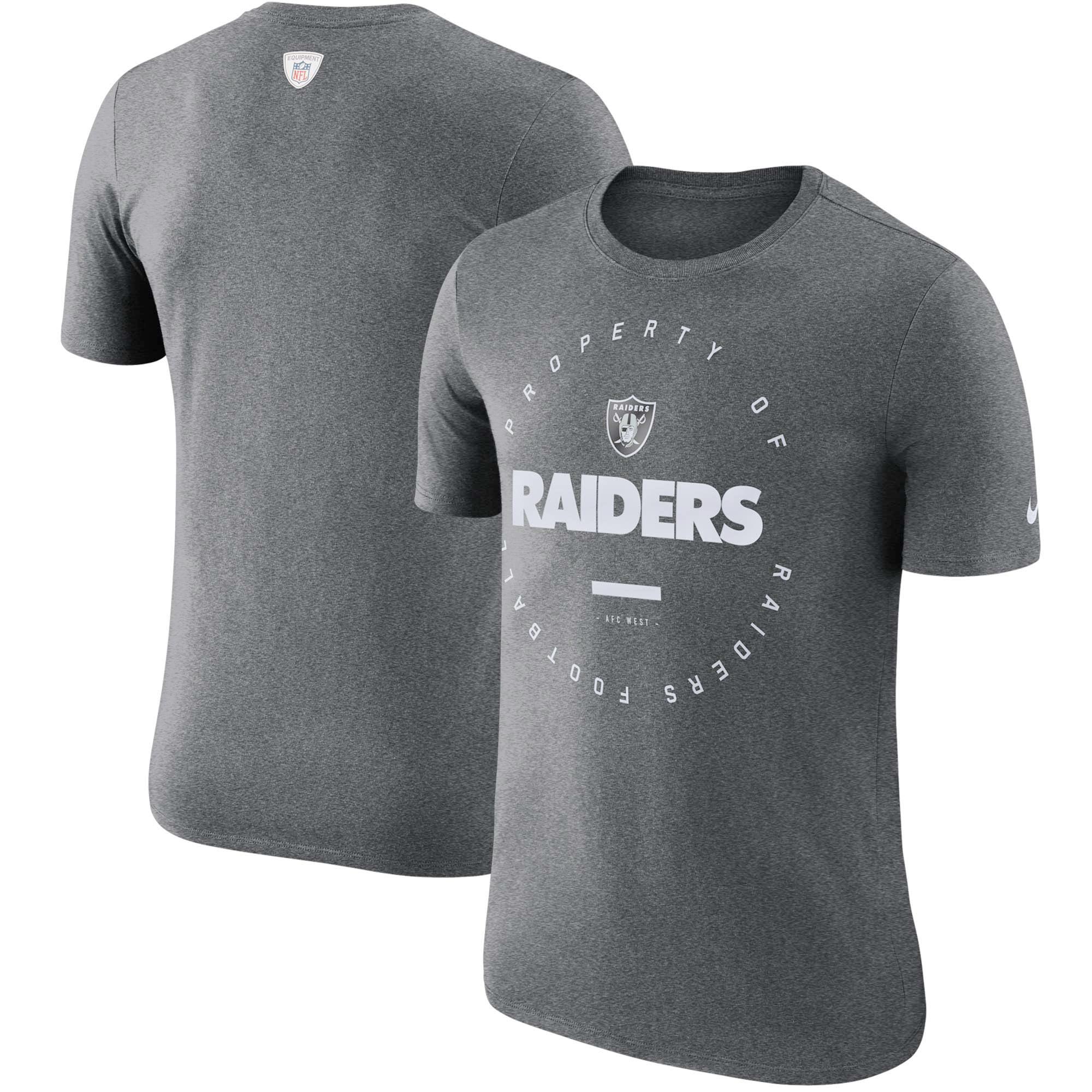 Oakland Raiders Nike Sideline Property Of Performance T-Shirt - Charcoal