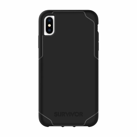 Griffin Survivor Strong Protective Case Black for iPhone XS Max Cases Cases compatible with Apple iPhone XS Max,Ultra-slim, ultra-drop protective case - image 1 of 1