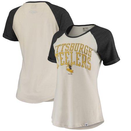 the latest 1adb2 69a17 Pittsburgh Steelers Fanatics Branded Women's True Classics Short Sleeve  T-Shirt - Cream