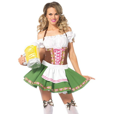 Leg Avenue Beer Girl Costume (Leg Avenue Women's Beer Babe Oktoberfest)