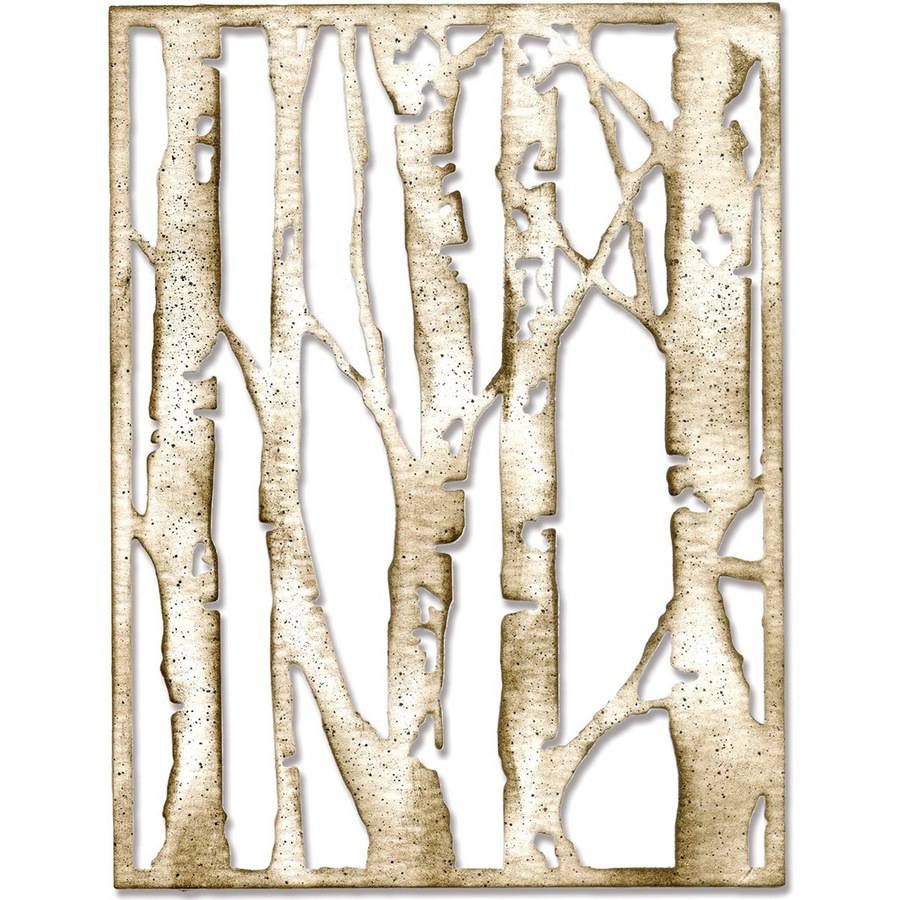 Sizzix Thinlits Die By Tim Holtz, Birch Trees