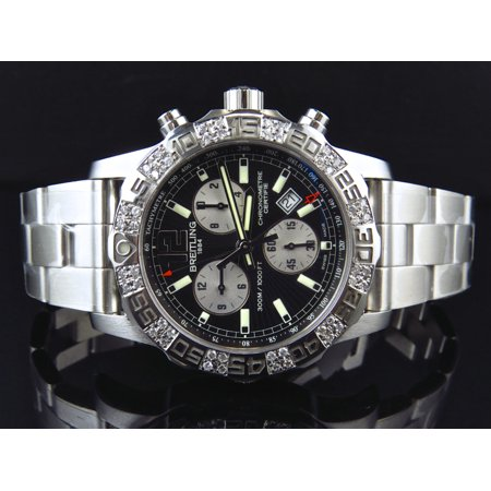 Breitling Custom Breitling A7338710-BB49-SS Men's Colt II Chronograph (1.50 Ct) Custom Breitling A7338710-BB49-SS 44MM Colt II Chronograph With 1.50 Ct Diamond