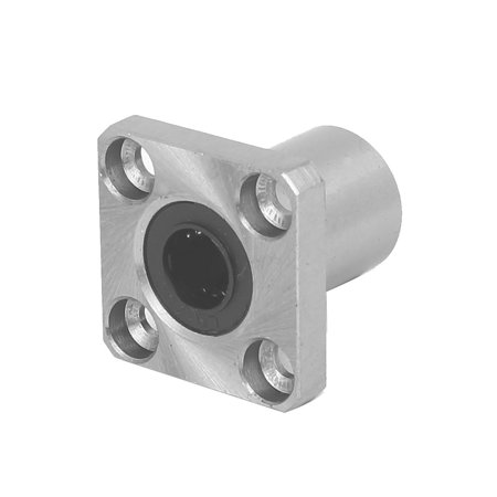 LMK10UU 10mm Inner Dia Square Flange Mount Linear Motion Ball Bearing