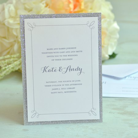 Gartner Studios Glitter Invitations, 50 Piece