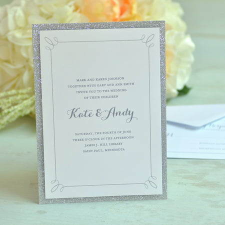 Gartner Studios Glitter Invitations, 50 Piece - Invitation Kits Wedding