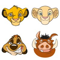 The Lion King Party Masks, 8ct