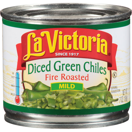 La Victoria Mild Fired Roasted Diced Green Chiles, 7 oz, (Pack of 24)