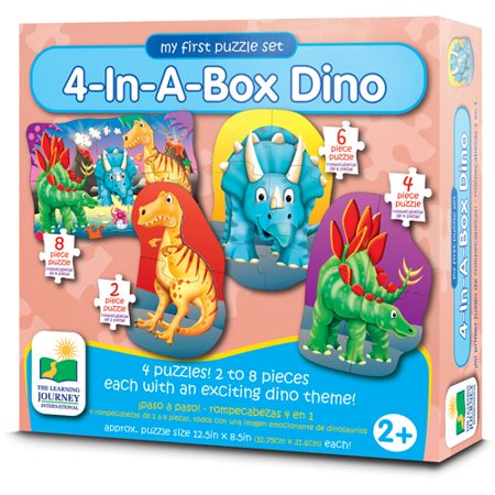 The Learning Journey My First Puzzle Set, 4-in-a-Box, Dino - Halloween Puzzles For 1st Grade
