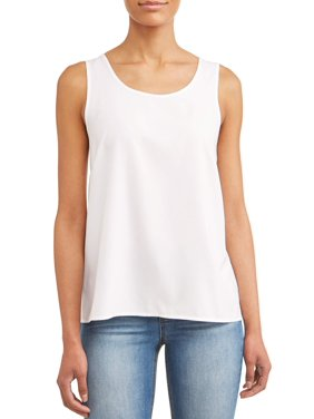 9e416c0d77 Product Image Women s Essential Woven Tank Top. Product Variants Selector.  Arctic White Black Soot