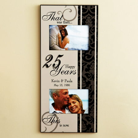 Personalized Then And Now Anniversary Frame Walmartcom