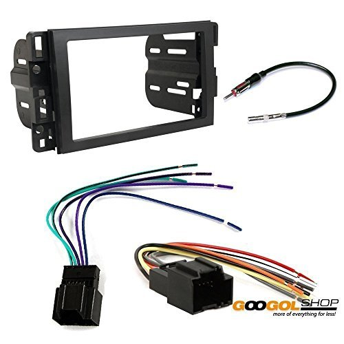 chevrolet 2009 - 2012 traverse car stereo dash install mounting kit wire harness radio antenna