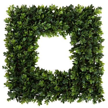 Fake Boxwood Wreath (Pure Garden 16.5 inch Square Boxwood)