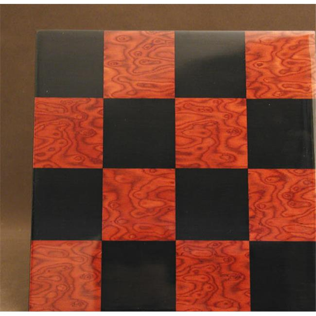 Ferrer 50400BR 15. 75 inch Black and Red Briar Glossy Board - Wood Veneer - Glossy Finish