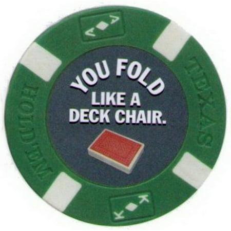 You Fold Like A Chair Poker Chip Magnet (Like Poker)