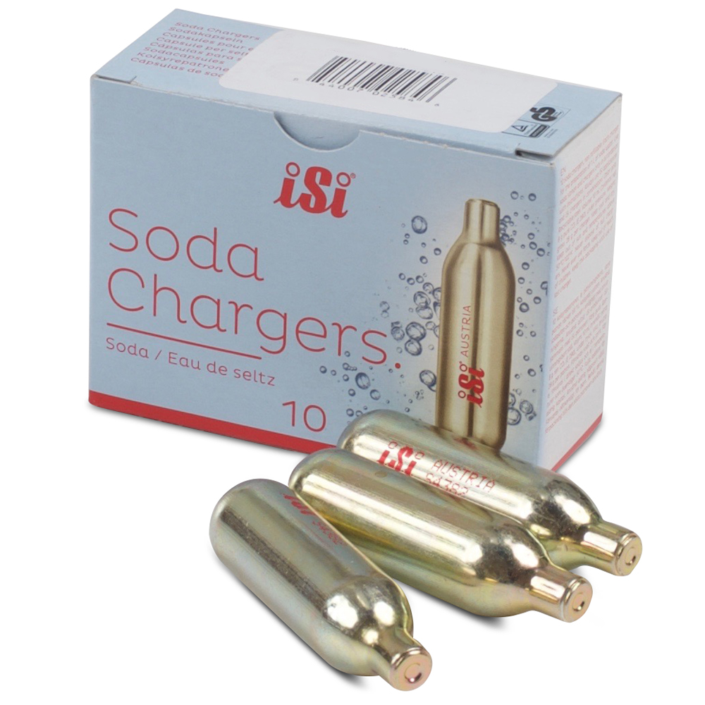 "ISI iSi Soda Chargers (Co2) *New* ""More Fizz"" - 10 pack 10 Pack"