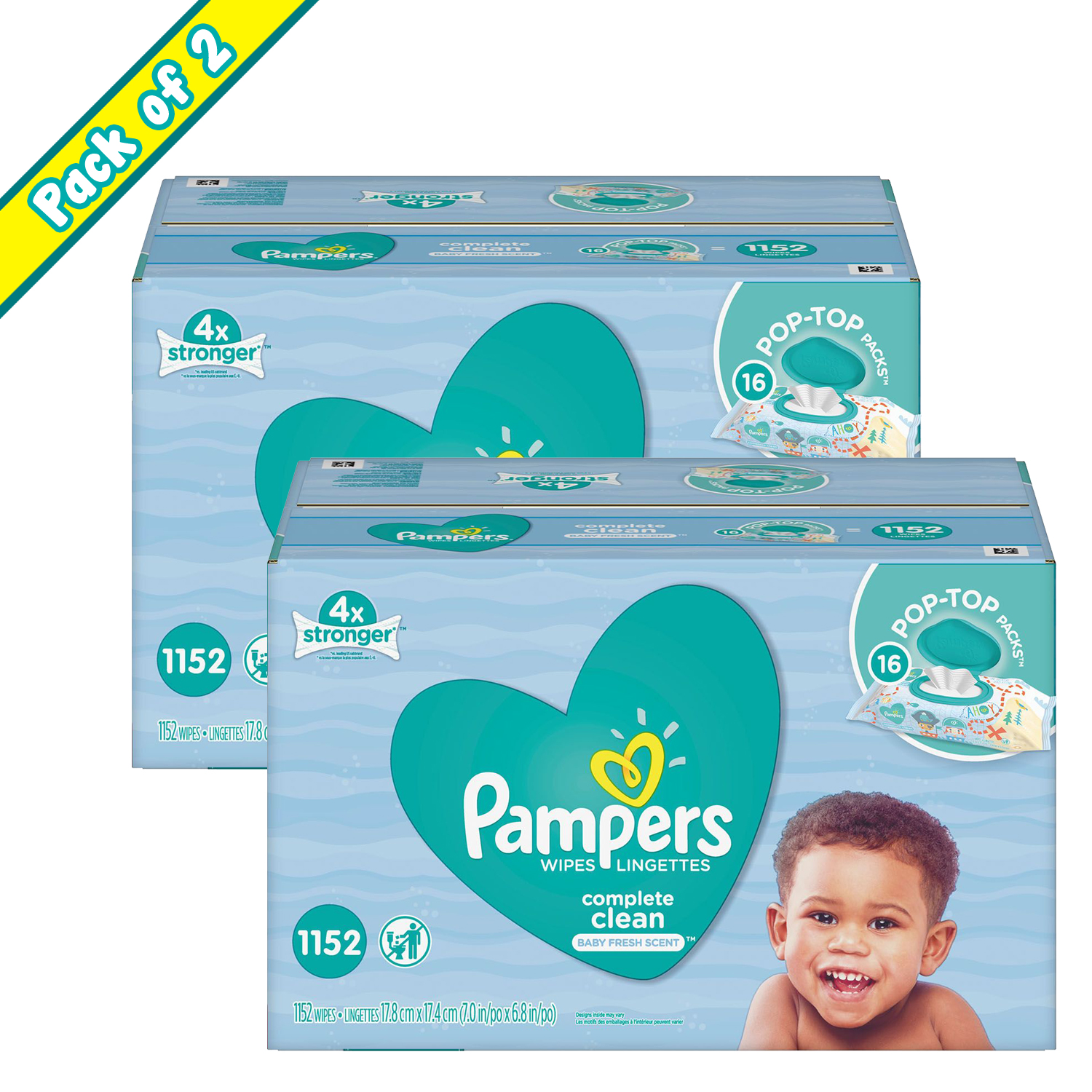 Pampers Baby Wipes, Complete Clean (1152 ct.) (PACK OF 2) by Unbranded