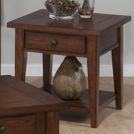 Square end table with drawer for End tables with drawers