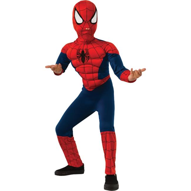 Deluxe Muscle Spider-Man Spiderman Gamerverse Child Boys Costume NEW