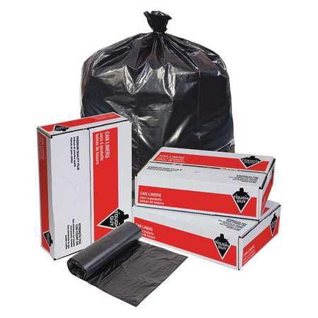 Tough Guy 31DK69 Black Linear Low Density Polyethylene 33 gal. Trash Bag