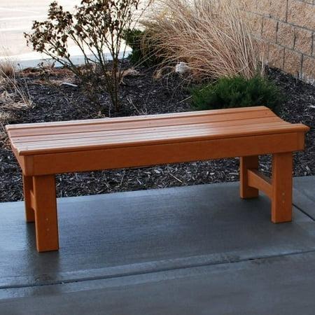Jayhawk Plastics Recycled Plastic Garden Bench Walmart Com